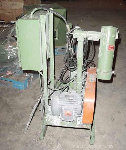 Used- Schwitzer Vacuum Loader. 3 hp motor. Mounted on base with controls and filter housing, size 325. 230-460 volt, 3/60.