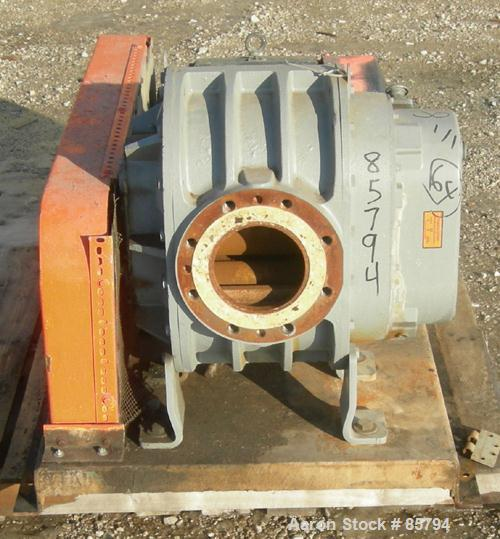 Used- Sutorbilt Medium Pressure Vertical Rotary Positive Displacement Blower, Model 7MP, carbon steel. Approximate capacity ...