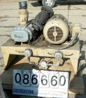 USED- Schwitzer Duroflow Horizontal Rotary Positive Displacement Blower, Model 4509VT. Approximate capacity 300 CFM at 10 PS...