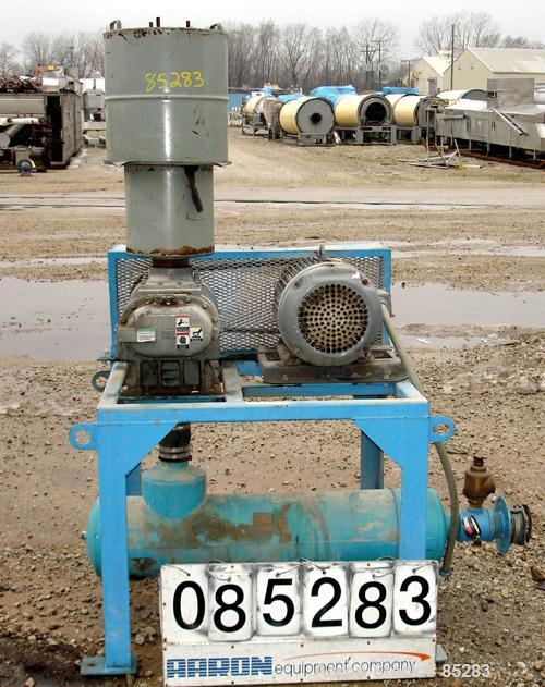 Used- Tuthill Vacuum Conveying System, Carbon Steel, Consisting Of: (1) Tuthill rotary positive displacement blower, model 4...