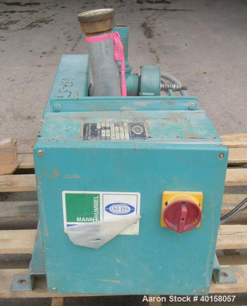 "Used- UnaDyn Vacuum Loader, Model VTP5. (1) Vertical Roots blower, model 24-U-RAI,  approximately 12 cfm at 1160 rpm. 2"" NPT..."