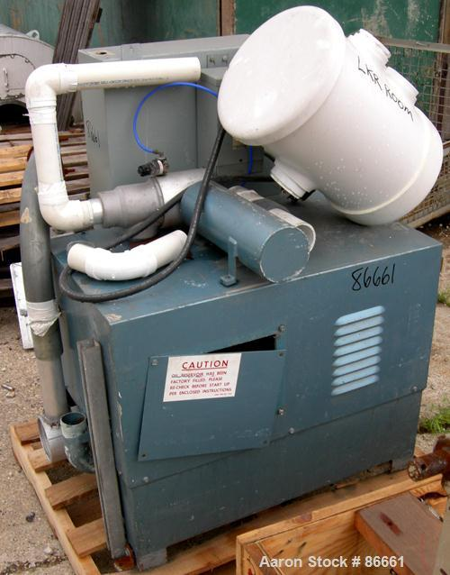 USED- Whitlock Vacuum Conveying System Consisting Of (1) Whitlock horizontal blower, model 52043, driven by a 5 HP, 3/60/208...