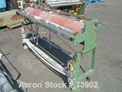 "USED:AMI 64"" hot air band sealer with split silicone roller,rated for 15 psi, missing V-board and sealer head."