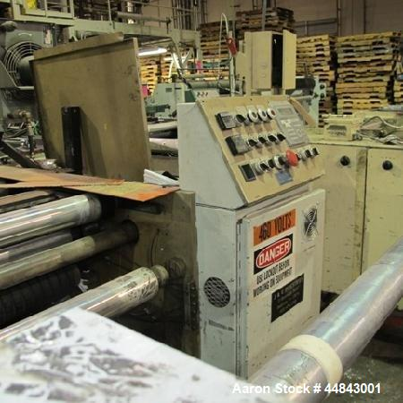 "Used- J&C 20"" Wide Bottom Seal Bag Machine.  Includes high speed kit, 460 volt AC input.  Built approximately 1990."