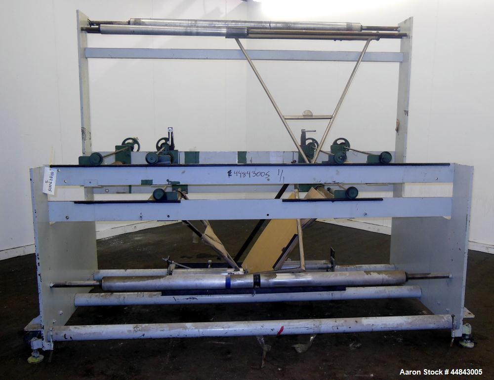 """Used- 75"""" Entry, 2 Up Double V-Folder Stand. With (2) 42"""" V"""" S. Unit is 2 up, double V"""" folder."""