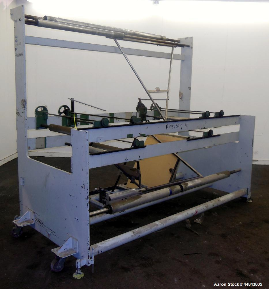 "Used- 75"" Entry, 2 Up Double V-Folder Stand. With (2) 42"" V"" S. Unit is 2 up, double V"" folder."