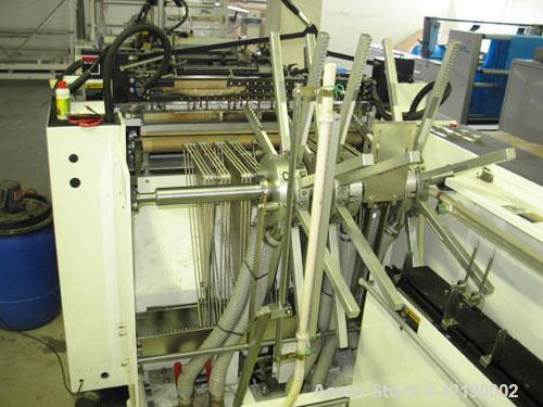 Used-Hemingstone HM-800 W+CK Plastic Bag Making Machine, only standard accessories included. EPC controller for round punchi...