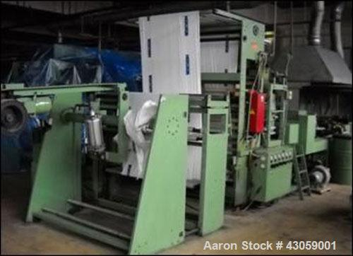 "Used-Intermat 1100SGT-AKV Bag Machine, mechanical speed 120 bags/minute. Handles LDPE 1.2""-2.7"" (30-70 mm), HDPE (25-50 mm),..."