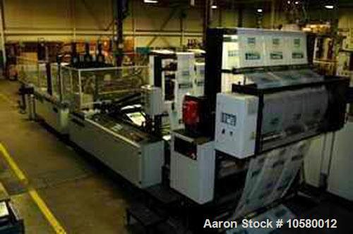 Used-1100mm Lemo IS 1100 3HT/LT Autopack Poly Bag Machine. Mfg 2005. With hydraulic unwind stand, slitting station, post gus...