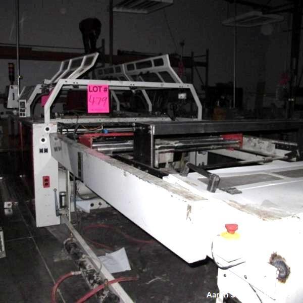 "Used- Hudson Sharp 51"" Model MS1200 Dual Lane Side Weld / Side Seal Split Roll B"