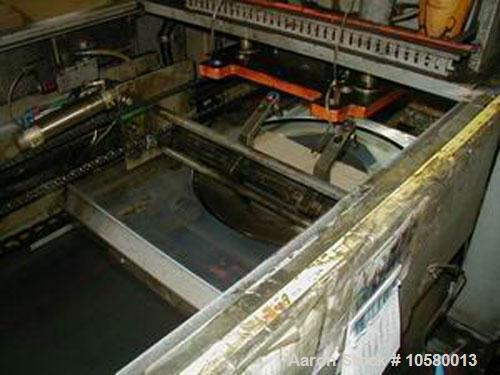 "Used-23"" Plastimac/DeBernardi model 602 T-shirt bag machine. Manufactured 1989."