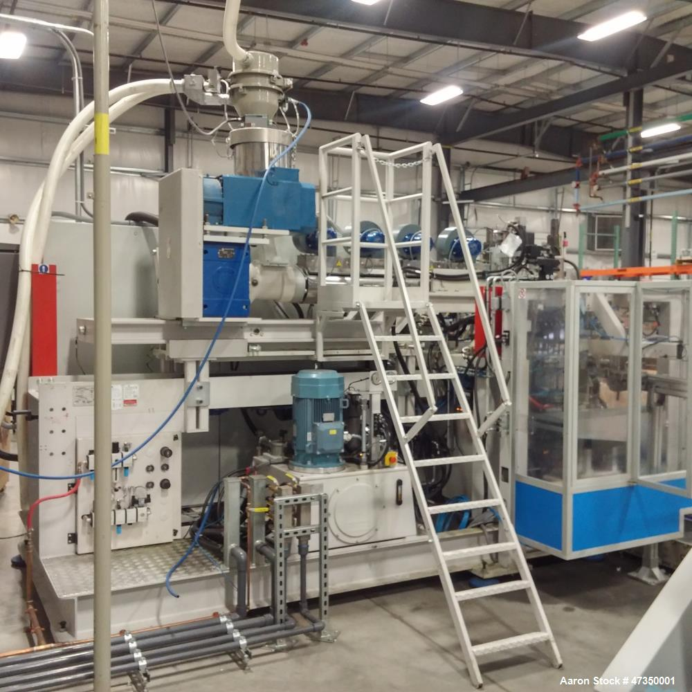 Used- Automa Extrusion Blow Molding Machine, Model 400D. Double station, 70kN clamping force, 400 mm horizontal stroke. 160 ...