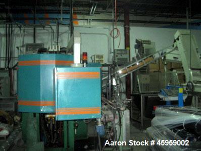 Used- Amsler PET Bottle Blow Molding Machine, Model WAE 3. Was Last Running 1 L x 3 Up. 460 Volt/50 Amps plus 380 Volt/50 Am...