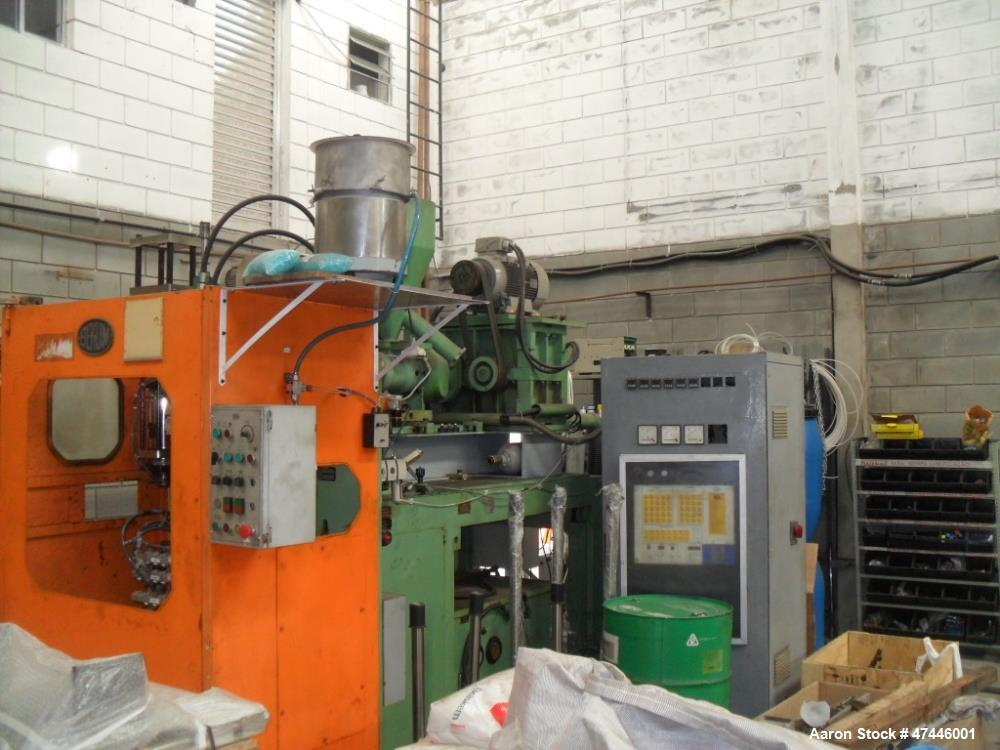 Used- Bekum Continuous Extrusion Blow Molding Machine, Model BAE-1. Screw and Barrel 60 mm. Bekum controls. 60HP AC motor. T...