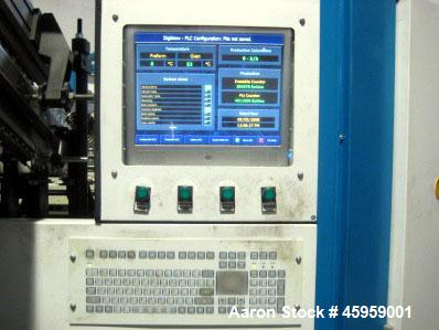 Used- Digiblow PET Bottle Blow Molding Machine, Model DKS 6.2. can run up to 4 L x 2 Up. 380 Volt/60 kW.