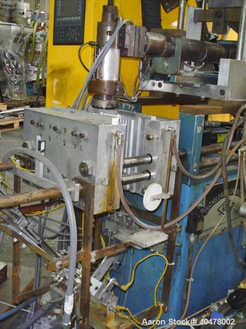 Used- Rocheleau Blow Molder, model R2-92-225, single head.