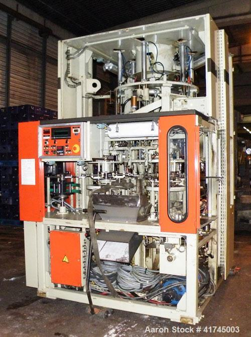 Used-Sidel Plastic Blow Molding Machine, type SBO 6-Roue. Max capacity 7200 bottles per hour. Sizes made: 0.26 (1 liter) to ...