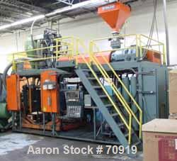 "USED- Sterling Blow Molding Machine, Model S20 S34 Dual Head, 8 lb shot capacity. Parison diameter is 10"", 4-1/2"" 24:1 L/D e..."