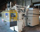 USED: Bekum model H-121 continuous extrusion blow molding machine. Dual sided. Shuttle clamp assembly with maximum 2 up prod...