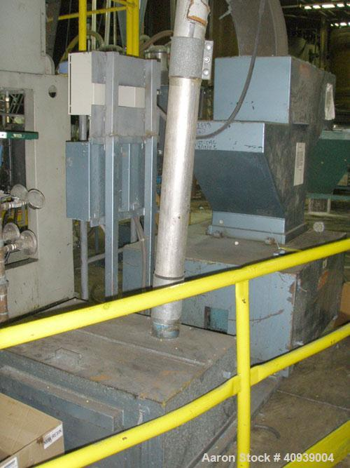 "Used- Uniloy Model 400R20, Serial #4983 Reciprocating Blow Molder. No side shift. Has 4 head design on 14"" centers. Overall ..."