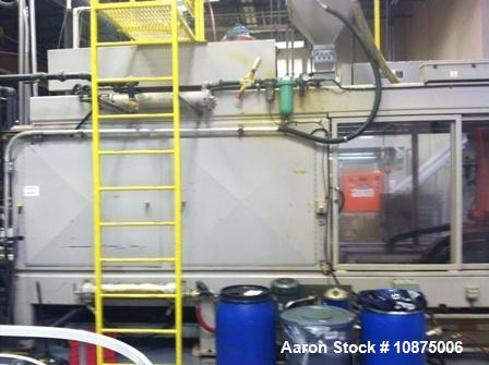 Used- Uniloy Reciprocating Screw Blow Molder. Model IS4500