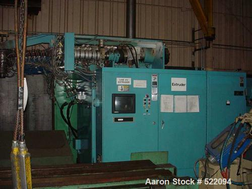 USED: Blow molding plant equipment including Wilmington 5 ton wheeltype blow molding machine, 12 stations with hydraulic cla...
