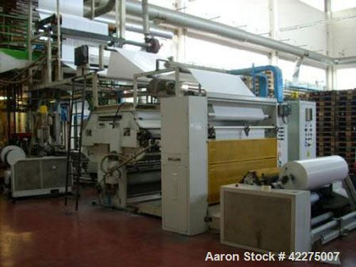 """Used-Bielloni 3 Layer Co-Extrusion Plant.  Film width 63"""" (1600 mm), output 551/771 lbs/h (250/350 kg/h).  Comprised of:  (3..."""