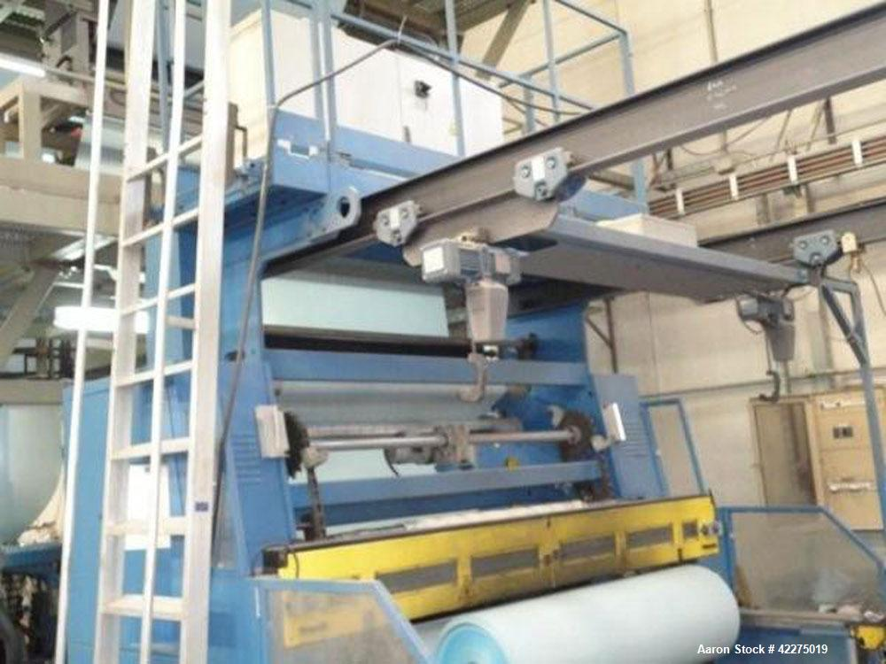 "Used-CMG HTM 75 Blown Film Line comprised of (1) 2.95"" (75 mm) extruder, L/D 30, 160 hp/120 kW, with thermo regulating contr..."