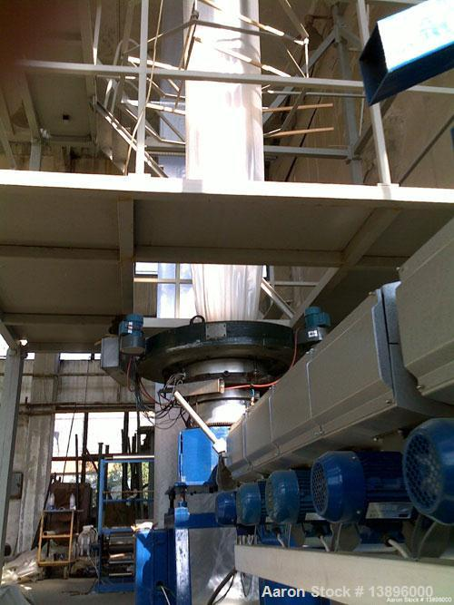 "Used-Blown Film Extrusion Line comprised of:  (1) Extruder for LDPE, built 2004, 53.3 hp/40 kW, diameter 3.54"" (90 mm), L/D ..."