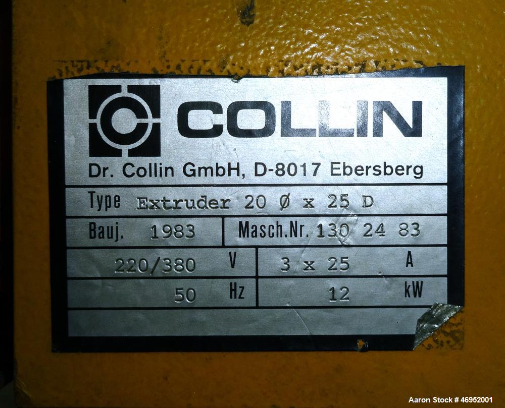Used- Dr. Collin Laboratory Blown Film Line.