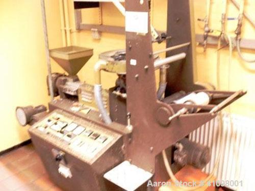 "Used-Formec Lab Size Blown Film Line consisting of:(1) Formec single screw extruder, type Poli-20. 0.78"" (20 mm) diameter sc..."