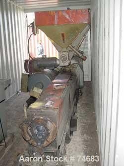 """USED: GEC 144"""" blown film line consisting of: 4.5"""" GEX extruder, model244-001, S/N 244-1522-01, 24:1 L/D, 150 hp motor, with..."""