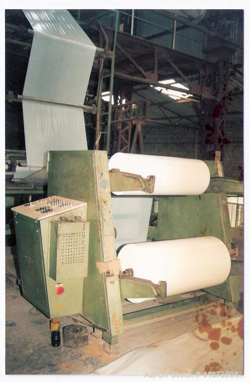 Used-Keifel Three Layer Extrusion Line complete with motors, winder, nip roller and layflat width 39.4' (1000 mm), three ext...