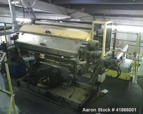 """Used-Kiefel 3 Layer Oscillation Co-Extrusion Line. (3) 2"""" (50 mm) extruders with 32 hp/24 kW drives, 20:1 L/D, fitted with b..."""