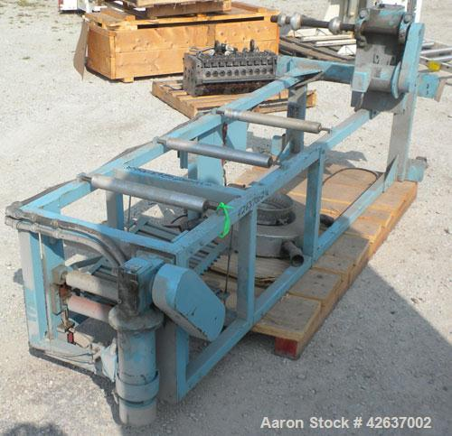 Used- Killion 15'' Wide Blown Film Tower consisting of: (1) Single turret winder, driven by a 1/4 HP, 90 Volt, 1725 RPM moto...