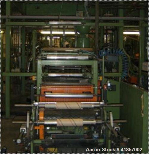 """Used-Kuhne Blown Film Plant. Extruder KD 1.3"""" (35 mm) diameter x 20 D, main motor drive power 14.4 hp (19.2 kW), capacity 66..."""