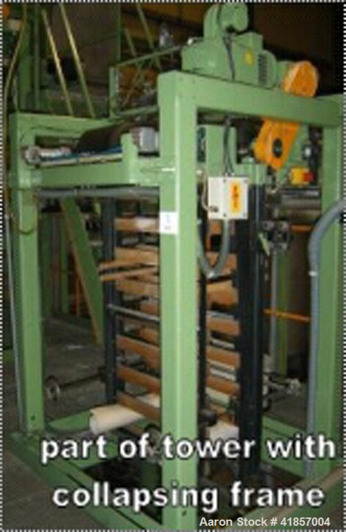 "Used-Kuhne Blown Film Plant. Extruder KD 1.3"" (35 mm) diameter x 20 D, main motor drive power 14.4 hp (19.2 kW), capacity 55..."