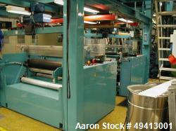 Used- Breyer 5 Layer Co-Extrusion Blown Film Line, type BF12-5/5-1400 AK. Capacity of 495 lbs. (220 kgs) per hour consisting...