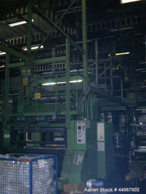 Used-Reifenhaeuser AB F 1600-02-A01 Blown Film Extrusion Line comprised of (1) Reifenhaeuser BK-F 0400-01-C3 blow extrusion ...