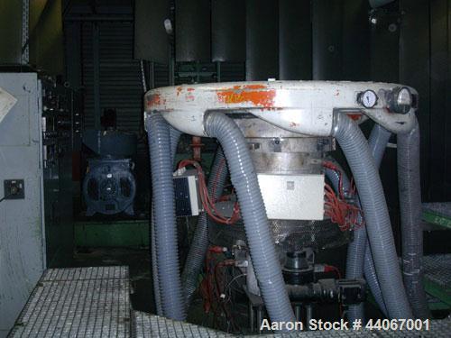 Used-Reifenhaeuser RT1651-1-120-30D Blown Film Extrusion Line comprised of:  (1) Nitrierstahl extruder, 129:30D, (5) heating...