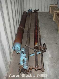 """USED: Gloucester 80"""" primary nip station with 9"""" diameter rolls."""