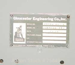 """USED: Gloucester 94"""" primary nip assembly.  (2) 9"""" diameter x 94"""" long rubber, chrome roll unit.  Requires motor."""
