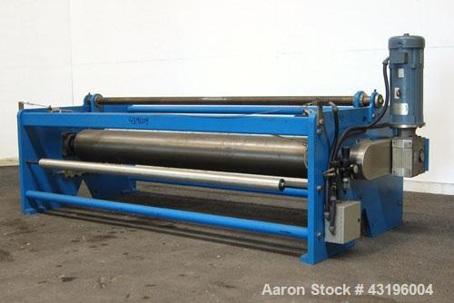 """Used- Nip Roll Assembly Consisting Of: (1) 10"""" Diameter x 84"""" long stationary metal roll, driven by a 3hp, 180 volt, 1750 rp..."""