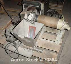 """USED: Lab size casting unit consisting of (1) 9"""" diameter x 14"""" wide single chrome plated cored roll, driven by a 1/4 HP mot..."""