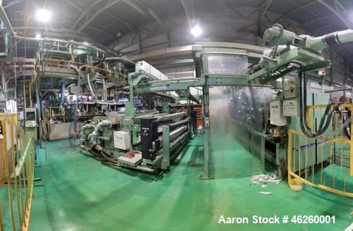 Used- Battenfeld Gloucester Cast Film Extrusion Line. 3200 mm Cloren die, 3250 mm roll width, 3 layer. Extruder A: screw 60m...
