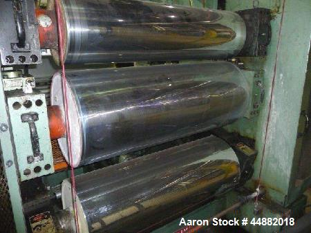 """Used- Davis Standard 44"""" wide x 12"""" x 18"""" x 18"""" gear driven chill roll stack, SO #52517, serial #R0210.  New 1994.  Each rol..."""
