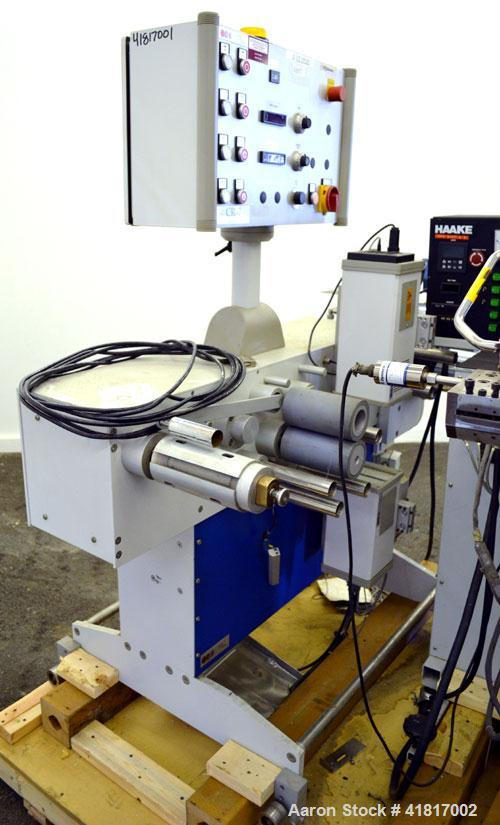 """Used- Haake Rheomex 252 Lab Cast Film Line Consisting of: (1) 3/4"""" Diameter Haake single screw lab extruder, approxmimate 24..."""