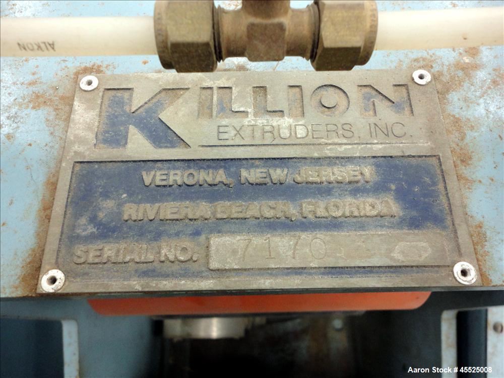 """Used- Killion 1"""" Single Screw Extruder"""