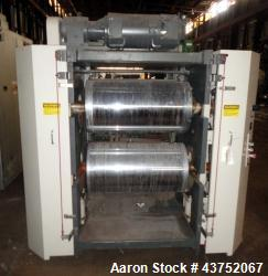 "Used- Cincinnati Milacron (2) Roll Stack. Sheet take-off with 34"" face x nominal 18"" diameter rolls mounted in a vertical ar..."