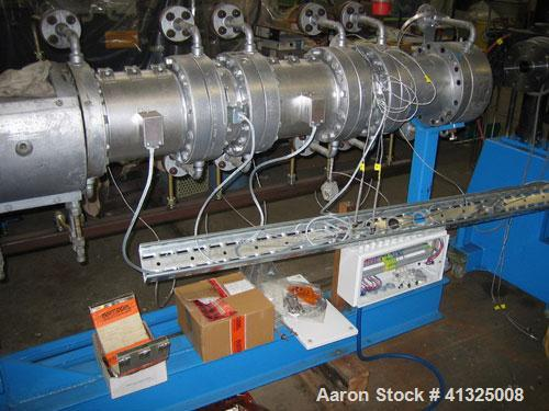 Used-Berstorff Compounding/Granulating Line consisting of:  (1) Berstorff twin screw extruder, type ZE60, 35:1 L/D, screw di...